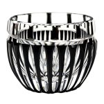Special black Edo-kiriko cut glass drinkingwares