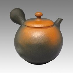 Black and red Tokoname pottery kyusu (Japanese teapot)