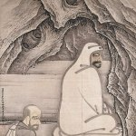 Sesshū Tōyō's Huike and Bodhidharma ink painting