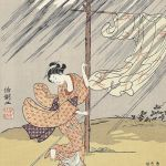 Evening Shower by Suzuki Harunobu