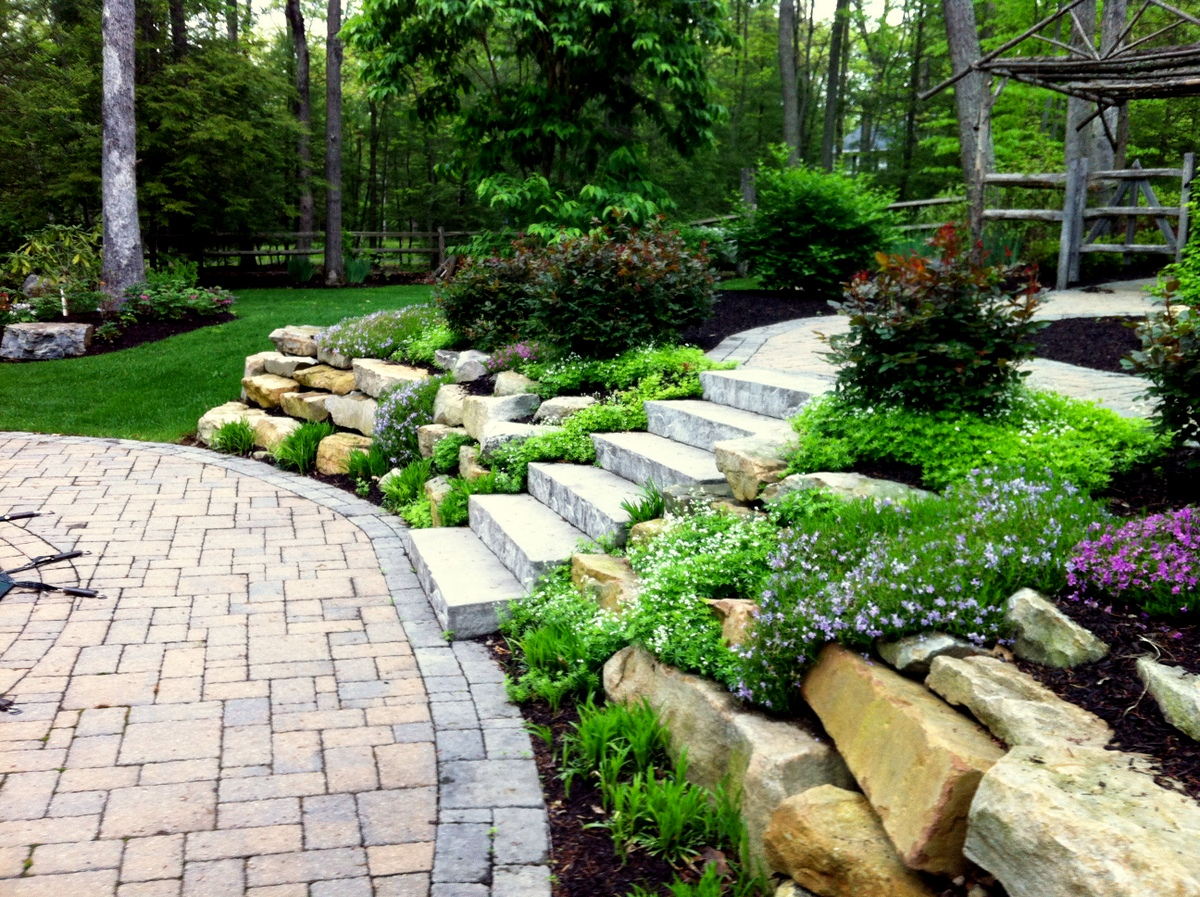 Step-Up Your Garden « MasterPLAN Outdoor Living on Backyard Patio Steps  id=23789