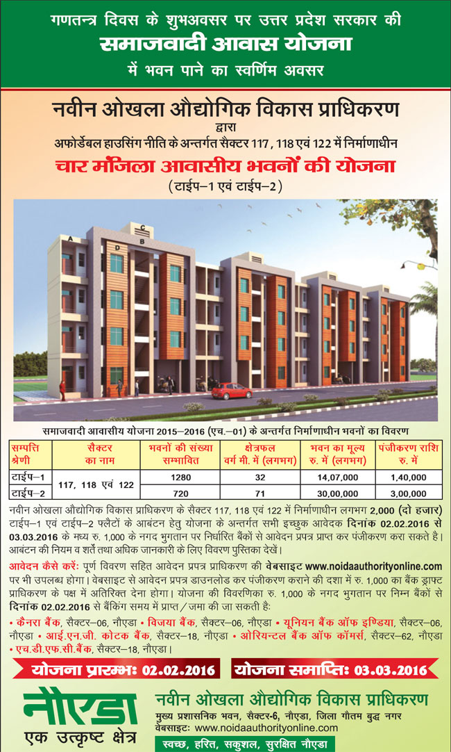 1 bhk apartment / flat for sale in bhs 16 scheme sector mu 2.