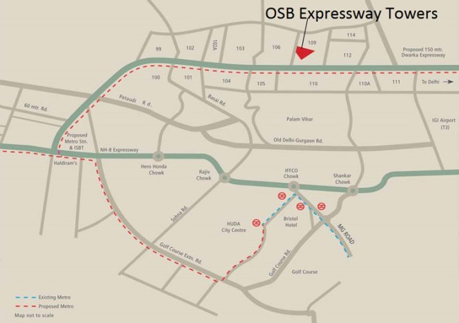OSB Expressway Tower Location Map