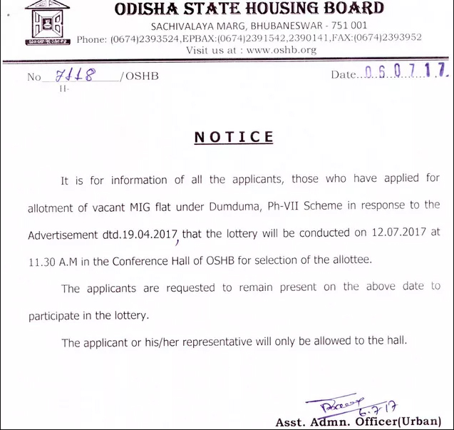 oshb-official-notification