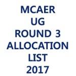 mcaer-Round-3-Allotment-List