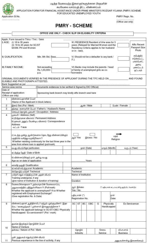 pmry loan scheme business plan