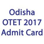 Odisha OTET Admit Card 2017