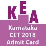 Karnataka CET Admit Card 2018