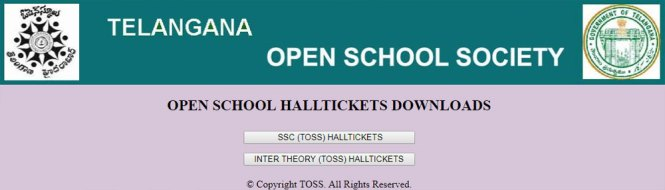 TS  Open School Hall Ticket 2018