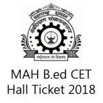 Maharashtra B.Ed CET Admit Card 2018