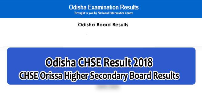 Odisha 12th Result 2018