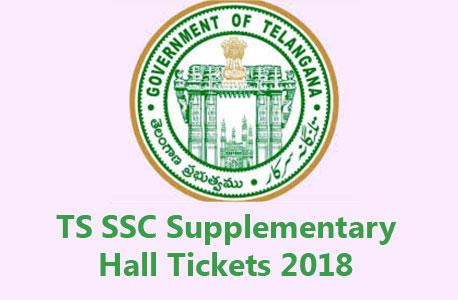 Telangana TS SSC Supplementary Hall Ticket 2018