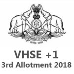 Kerala VHSE 3rd Allotment 2018