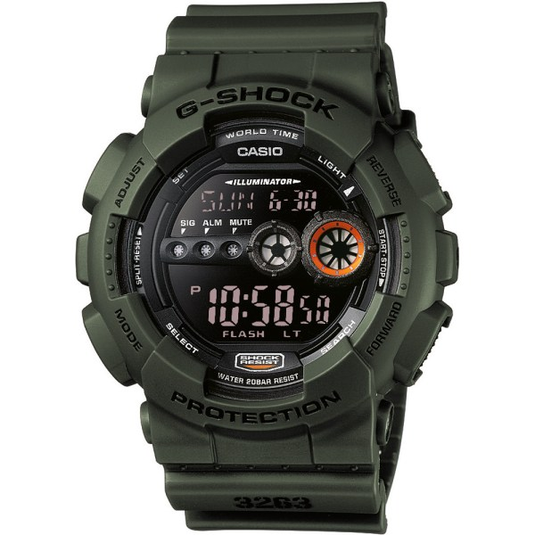G-Shock GD-100MS-3ER watch - Military Stealth