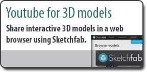Sketchfab Youtube for 3D models