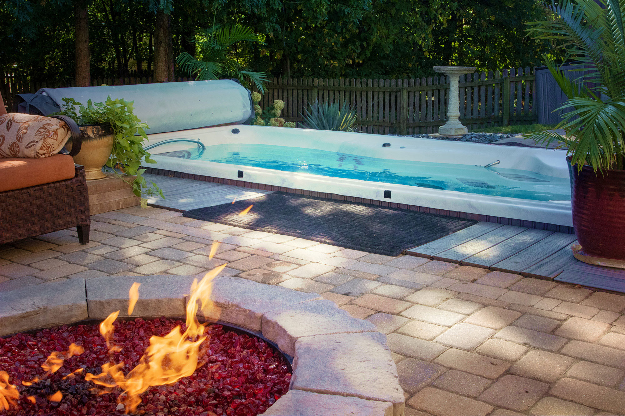Fire and Water: Fire Pit and Hot Tub Backyard Inspiration ... on Fire Pit Inspiration  id=46451