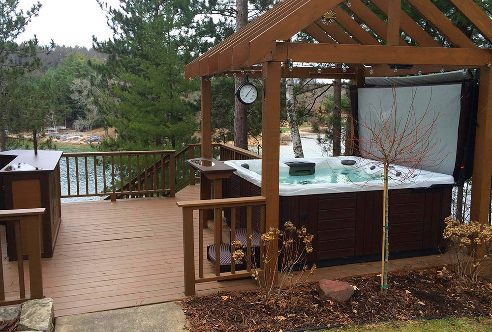 Swim Fitness Backyard Inspiration for 2017 on Deck And Hot Tub Ideas  id=50606