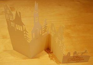 Kerst Huisjes kaart – FCM – CWPRJ – SVG – Studio