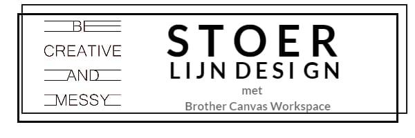 Stoer lijn Design maken in Brother Canvas Workspace