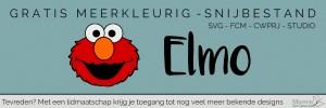 Lees meer over het artikel Gratis Meerkleurige Elmo design voor je Brother ScanNCut of Silhouette machine