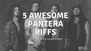 5 AWESOME Pantera Riffs