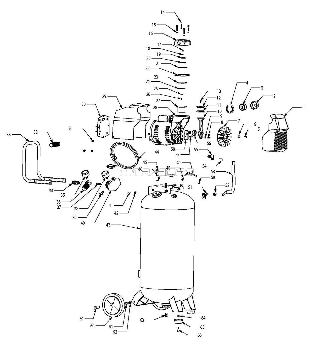 Husky E Air Compressor Parts