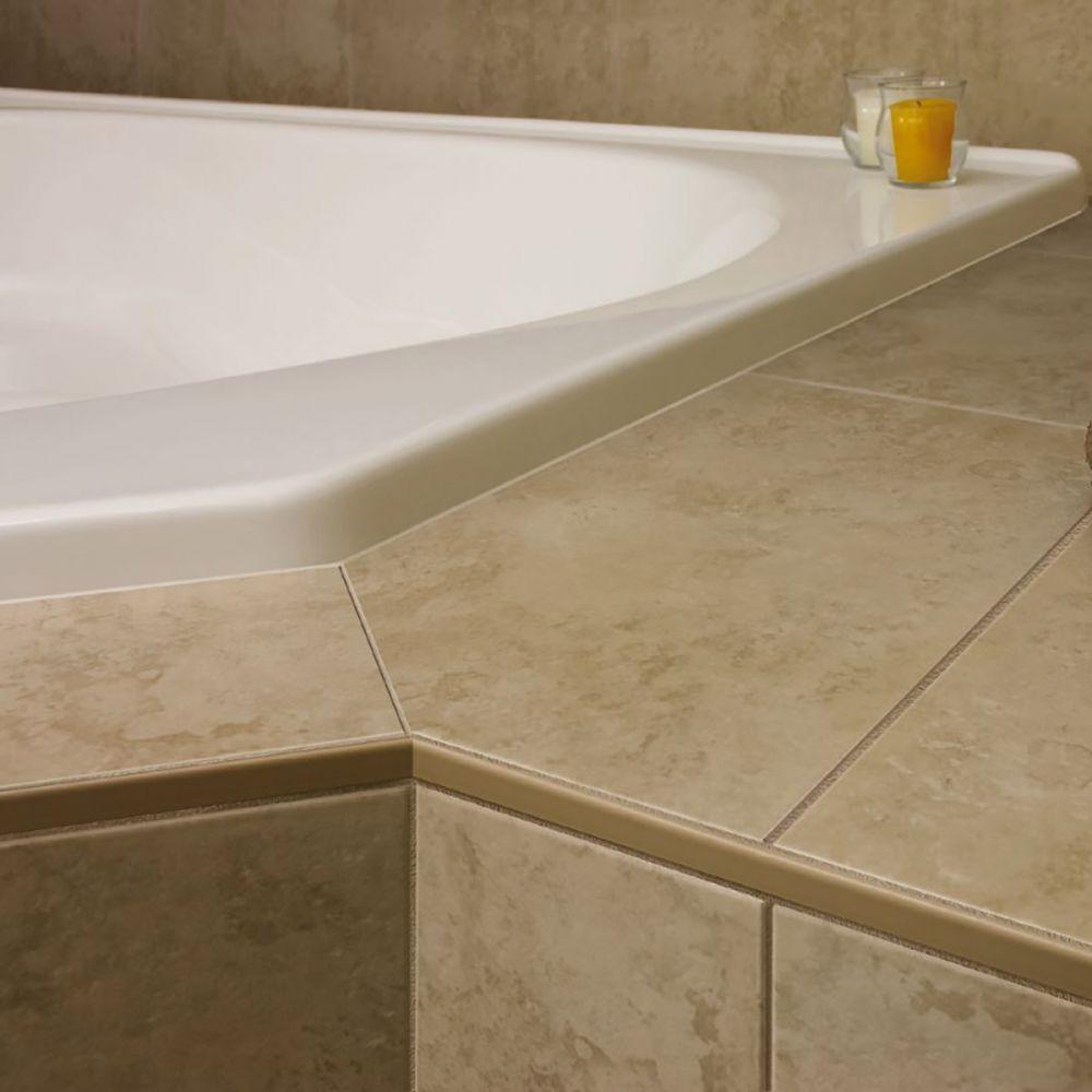 schluter jolly coated aluminum tile edging trim