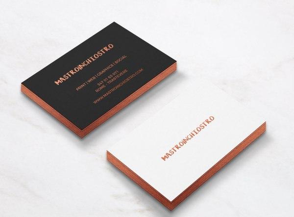 Biglietti da visita con stampa a caldo - hotfoil print   MASTROiNCHIOSTRO