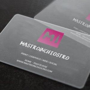 MASTROiNCHIOSTRO buisiness cards biglietti visita plexiglass