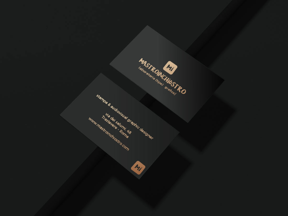 business cards black paper - stampa hotfoil | MASTROiNCHIOSTRO