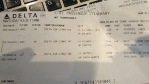 変更となったデルタ航空チケット グアテマラーアトランターシアトルー成田便