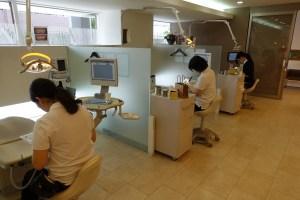 歯科衛生士 練習風景