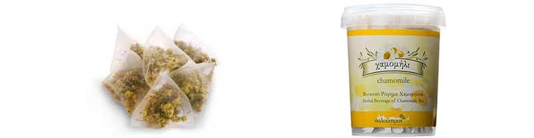 Τσάι Χαμομήλι Σαλούστρος για τις βλεφαρίδες