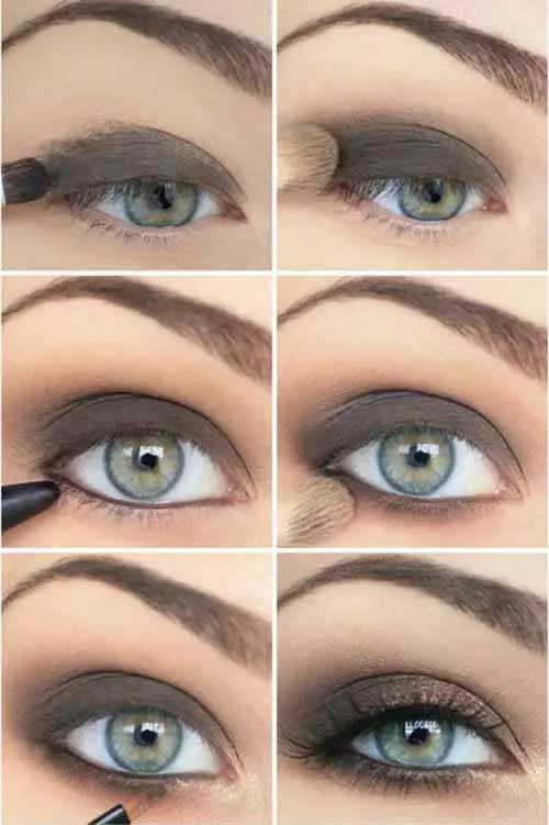 Το σέξυ πρασινο-γκρί look για πράσινα μάτια