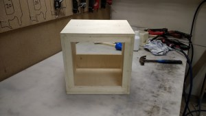 The finished raw cabinet