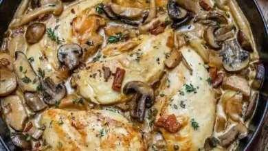 طريقة عمل دجاج بالفطر والثوم بطريقة صحية