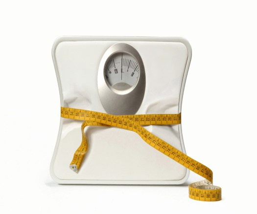Weight scale with a measuring tape. Bathroom Scale with a measuring tape.