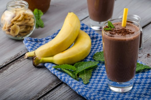 Chocolate-banana smoothie 70 % cocoa all natural ingredience