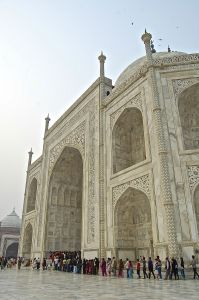 Entrance into the Taj Mahal. Photo taken by Pete Follansbee.