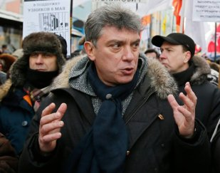 From The New York Times: Mr. Nemtsov at an opposition rally last year. He was scheduled to lead a protest against the war in Ukraine this weekend. Credit Yuri Kochetkov/European Pressphoto Agency