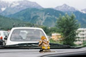 Ganesh statue in our car. Courtesy of Ryan Parillia.