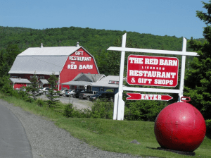 The Red Barn Restaurant. Image courtesy of the Baddeck and Area Business & Tourism Association.