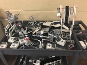 A few of the pieces of the conveyor belt. Photo Credit-Hayden Gee