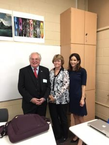 Dr. Roger Loria, his wife, and Dr. Leah Sievers