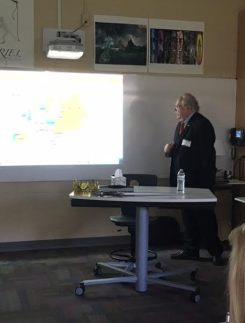 Dr. Roger Loria presents to Collegiate students