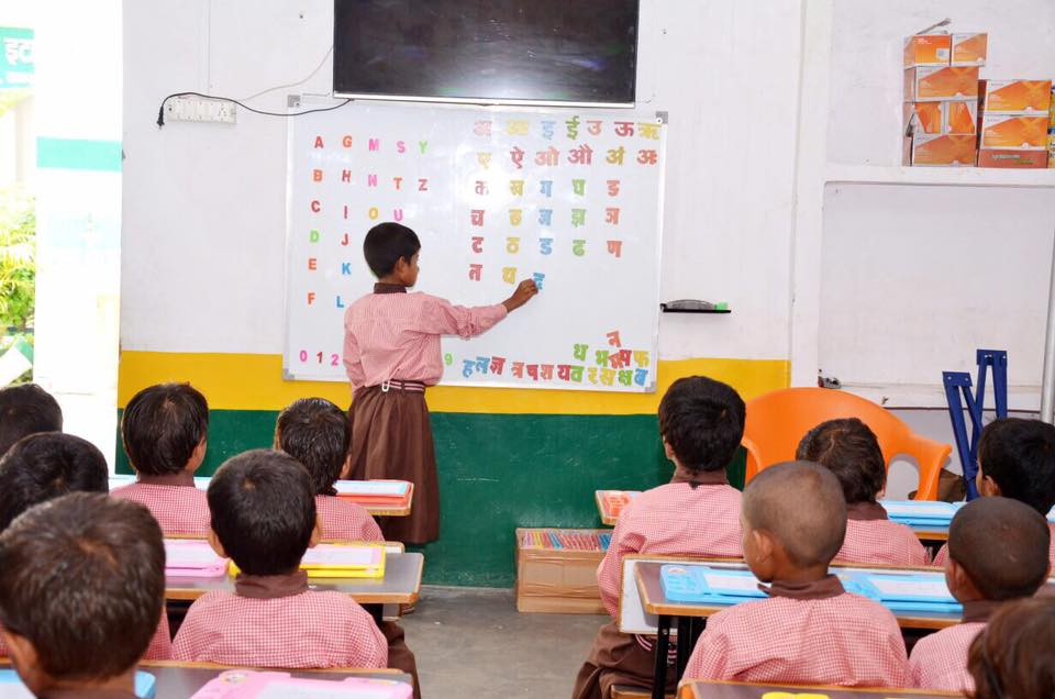 Classroom in government school in UP India