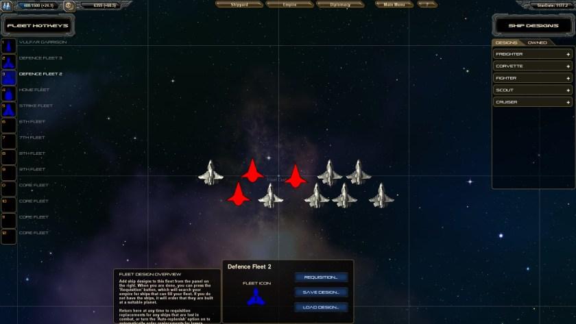 StarDrive fleet screen