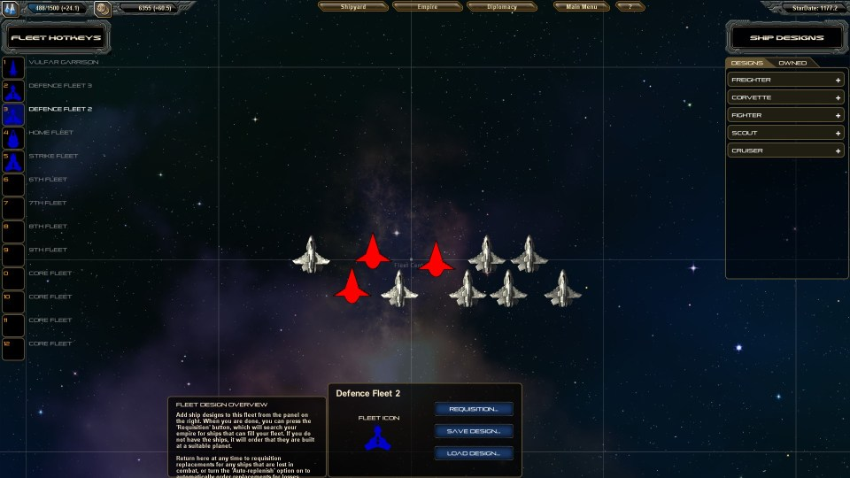 StarDrive fleet screen