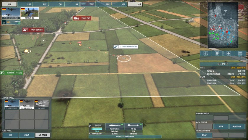 Wargame players will spend most of their time looking at blips on the map...