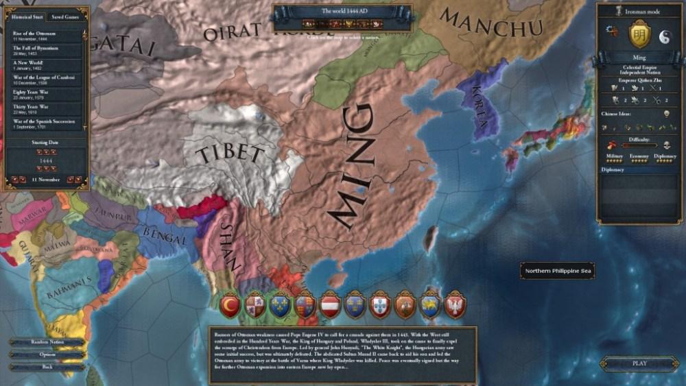 The World that May Have Been, a Europa Universalis IV Let's Play -- Part 1: Never Pick on Someone Your Own Size (2/6)